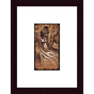 'Whisper' by Monica Stewart Framed Painting Print by Printfinders