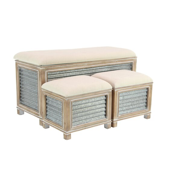 Wiggins Farmhouse Upholstered Storage Bench by Gracie Oaks