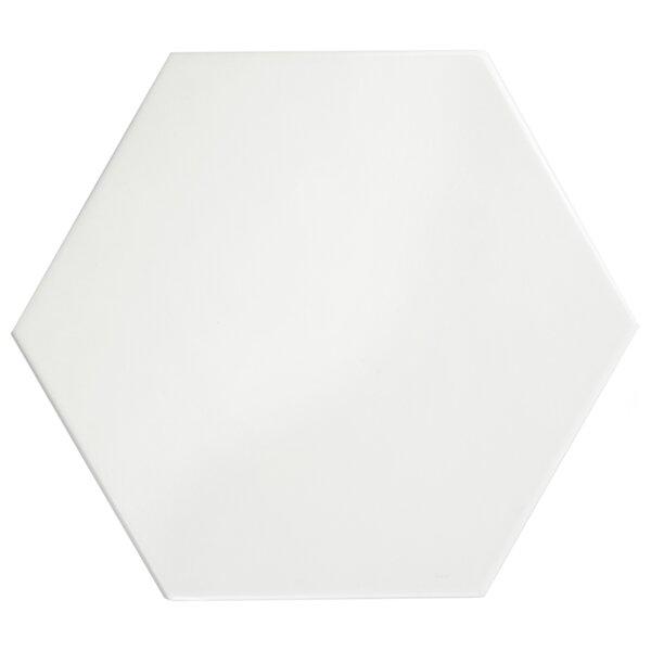 Hexitile 7 x 8 Ceramic Field Tile in Glossy White by EliteTile
