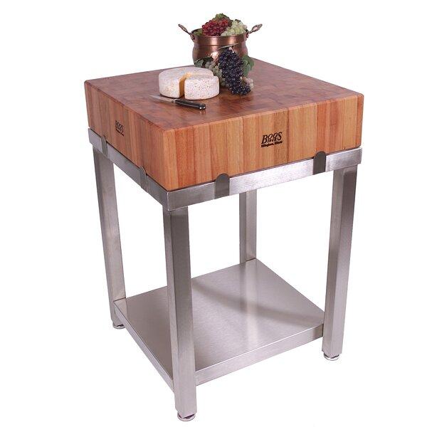 Cucina Americana Laforza Prep Table with Butcher Block Top by John Boos
