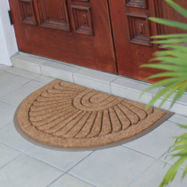 First Impression Sunburst Rubber and Coir Doormat by A1 Home Collections LLC
