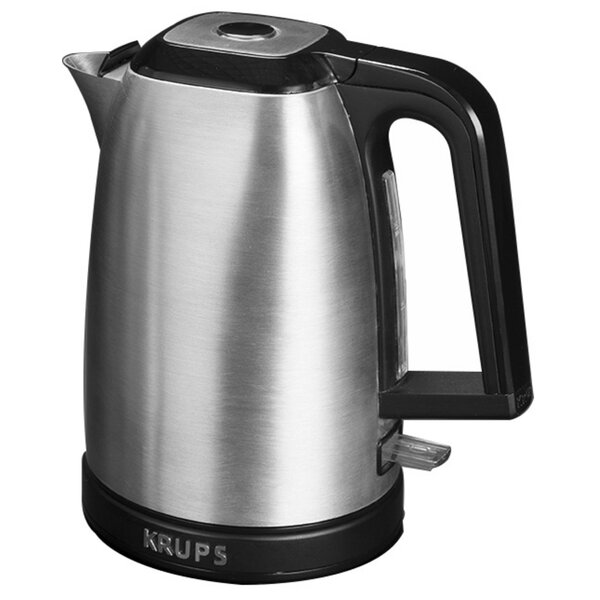 Savoy Stainless Steel 1.7-qt. Electric Tea Kettle in Sliver by Krups