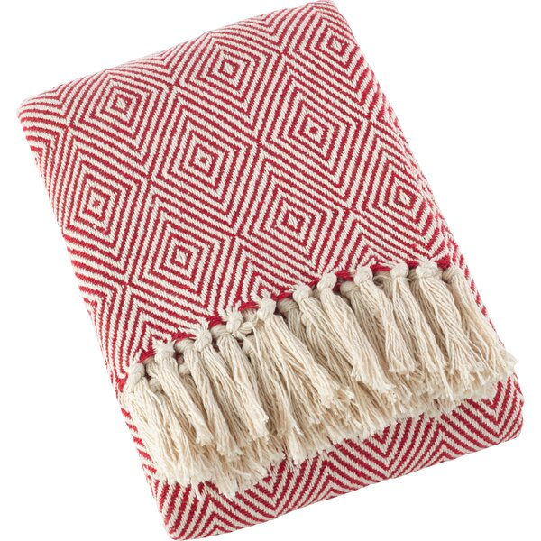 Sawyer Diamond Weave Soft Cotton Throw by Ivy Bronx