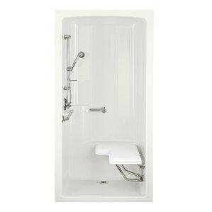 One Piece Corner Shower Stall | Wayfair