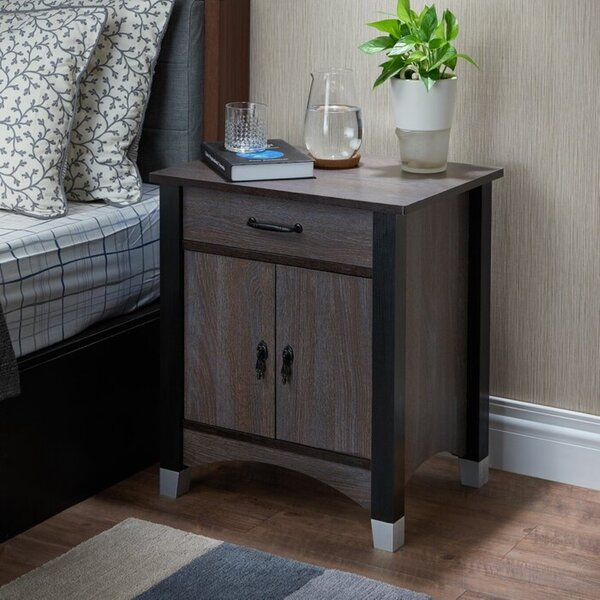 Kaur 1 Drawer Nightstand by Latitude Run