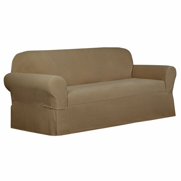 Torie Stretch Box Cushion Loveseat Slipcover by Maytex