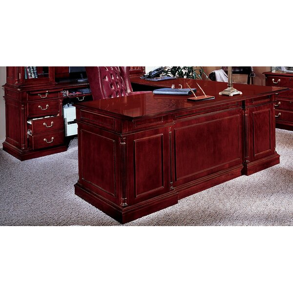 Prestbury L-Shape Executive Desk with Center Drawer by Darby Home Co