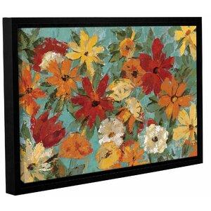 'Bright Expressive Garden' by Silvia Vassileva Framed Painting Print by Andover Mills
