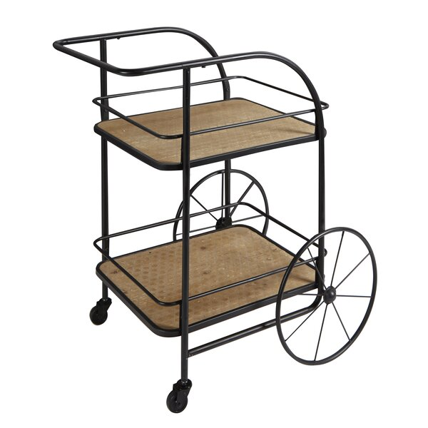 Poirier Trolley Frame Bar Cart by Williston Forge