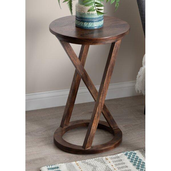 Cruz Solid Wood Cross Legs End Table By Gracie Oaks