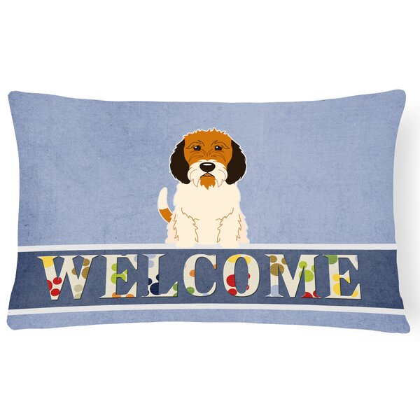 Ravenwood Petit Basset Griffon Veenden Welcome Lumbar Pillow by Red Barrel Studio