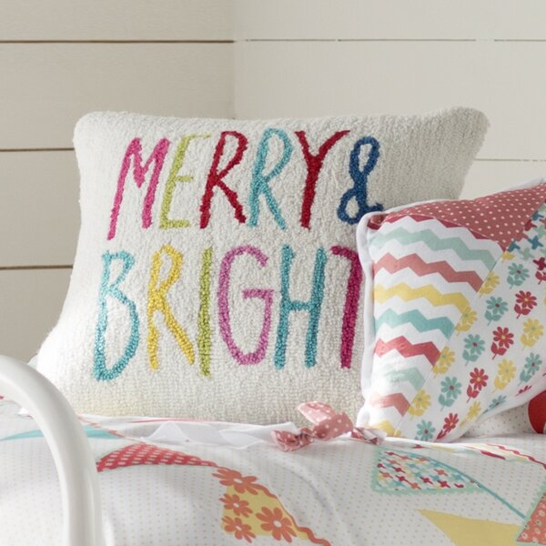 Merry & Bright Winter Pillow Cover by Viv + Rae