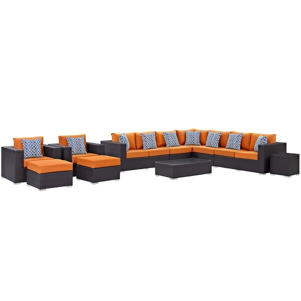 Brentwood 11 Piece Sectional Seating Group with Cushions by Sol 72 Outdoor