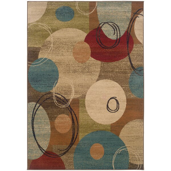 Bienville Woven Gold/Brown Area Rug by Andover Mills