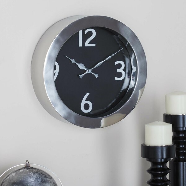 Stainless Steel Round 12 Wall Clock by Cole & Grey