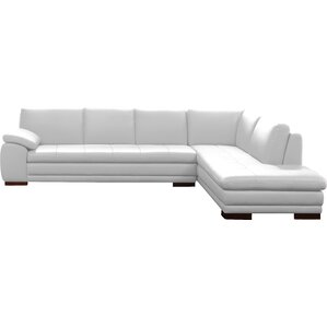 sc 1 st  Wayfair : white leather sectional sofa with chaise - Sectionals, Sofas & Couches