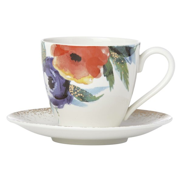 Passion Bloom Cup and Saucer Set by Lenox
