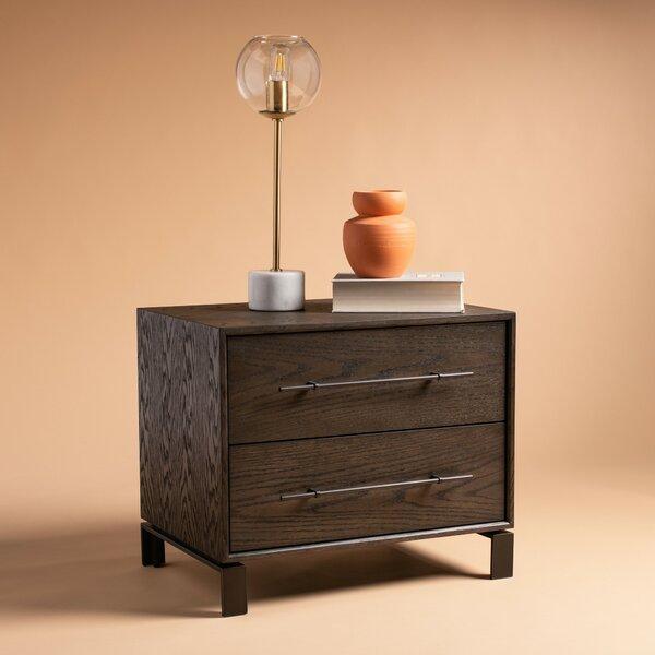 Shanitaortia Simmons 2 Drawer Nightstand by Gracie Oaks