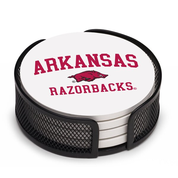5 Piece University of Arkansas Collegiate Coaster Gift Set by Thirstystone