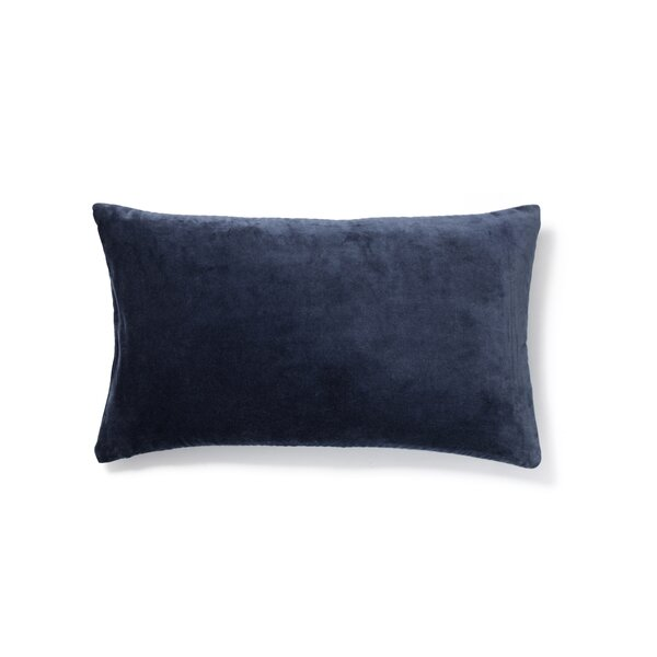 Plain Cotton Velvet Lumbar Pillow by to BE living