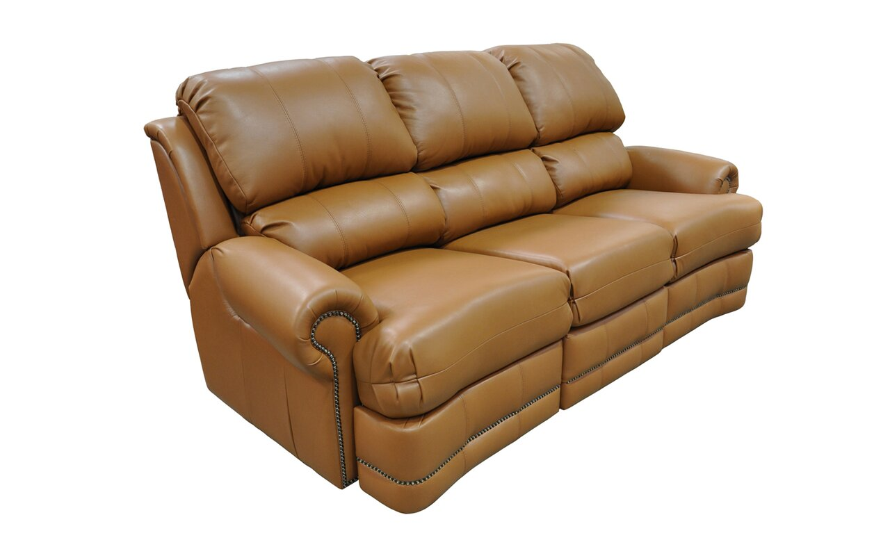 Omnia Leather Morgan Leather Reclining Sofa Amp Reviews