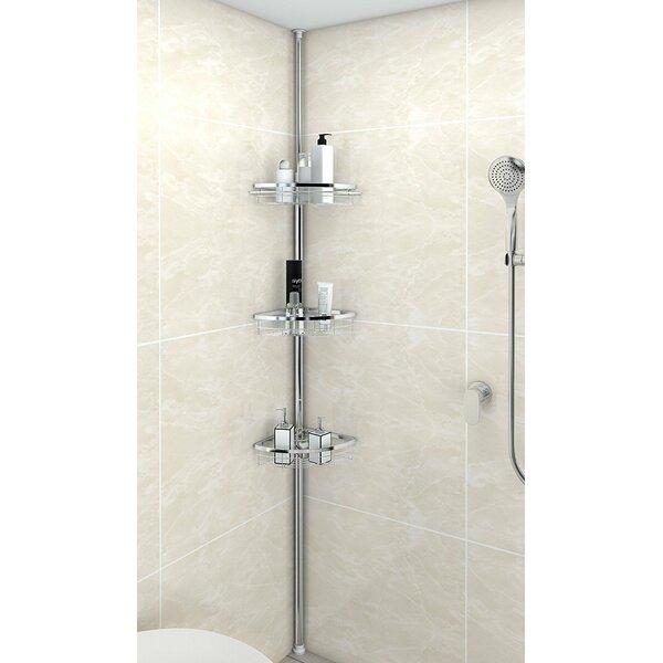 Anne Adjustable 3 Tier Tension Bathroom Shower Caddy by Rebrilliant