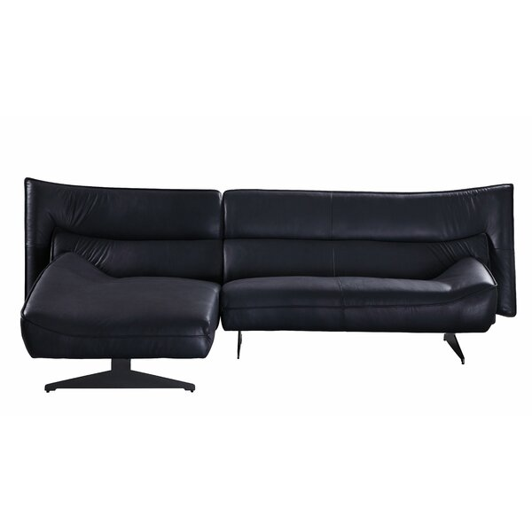 Tichenor Leather Left Hand Facing Sectional By Latitude Run