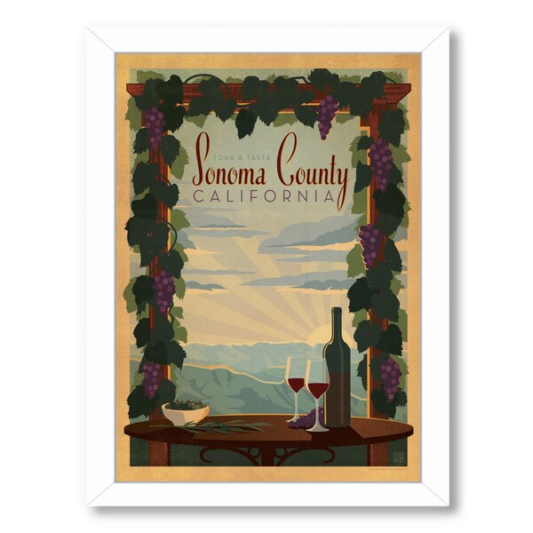 Sonoma County Framed Vintage Advertisement by East Urban Home