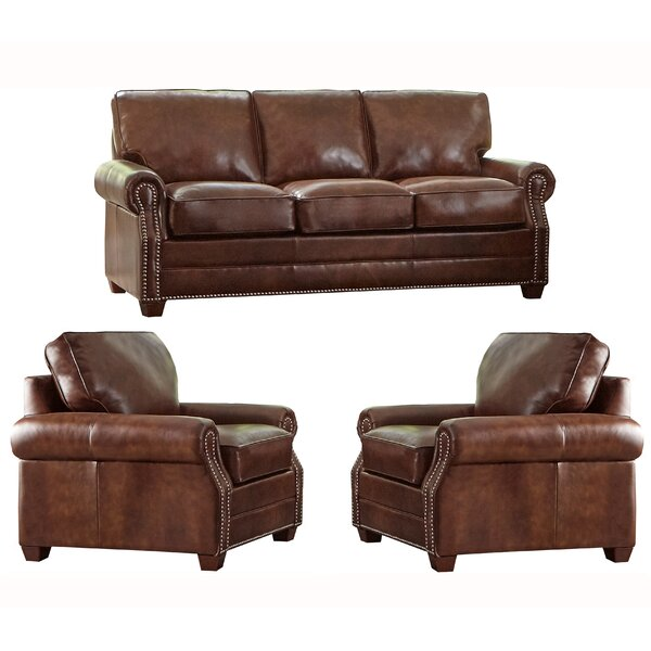 Lyndsey 3 Piece Leather Sleeper Living Room Set By 17 Stories New