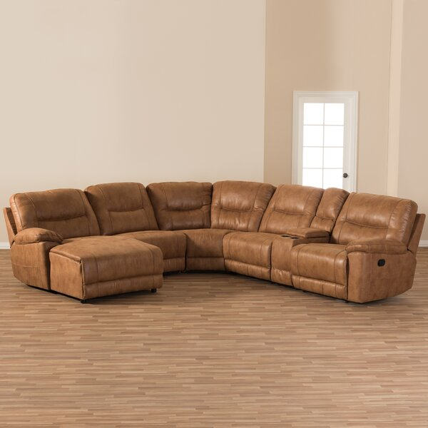 Best Price Carnegie Left Hand Facing Reclining Sectional