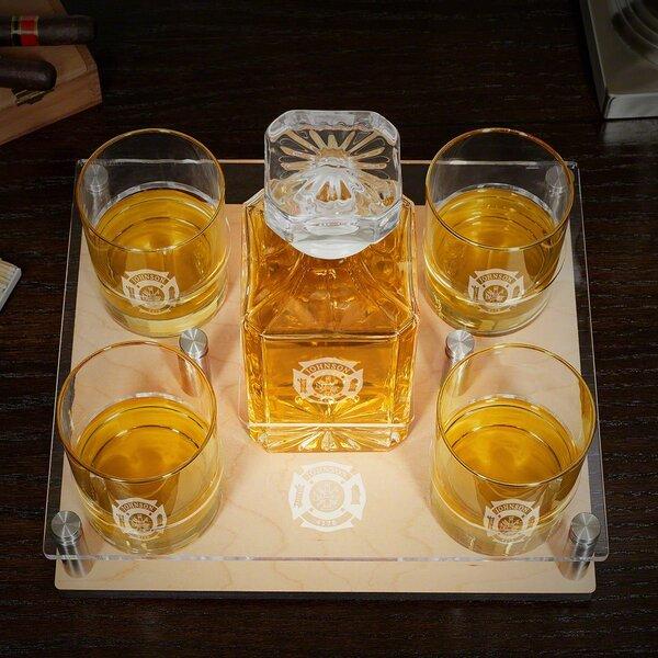 Baynham Fire & Rescue Engraved 6 Piece Beverage Serving Set by Canora Grey