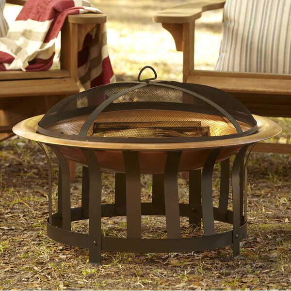 Crimson Copper Charcoal Fire Pit by Birch Lane™