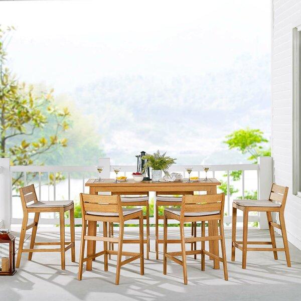 Kamden Outdoor Patio 7-Piece Bar Set by Foundry Select