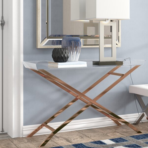 Patio Furniture Casey Acrylic Tray Console Table