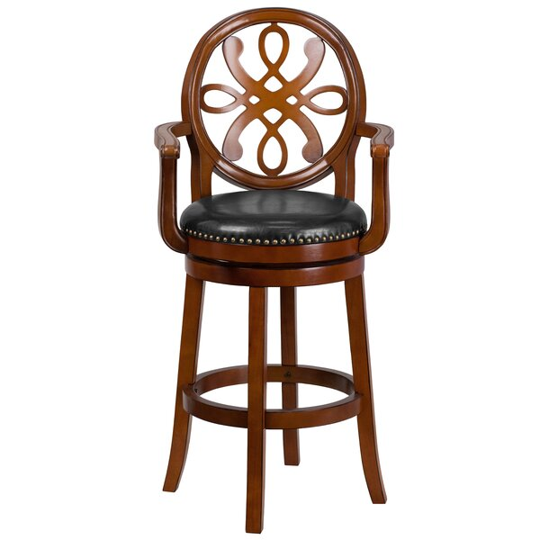Fatum Wood 30 Swivel Bar Stool by Astoria GrandFatum Wood 30 Swivel Bar Stool by Astoria Grand