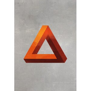 'Minimal Modern Triangle' Graphic Art Print on Canvas by George Oliver