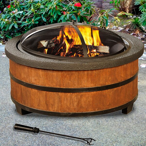 Alta Steel Wood Burning Fire Pit by Sunjoy