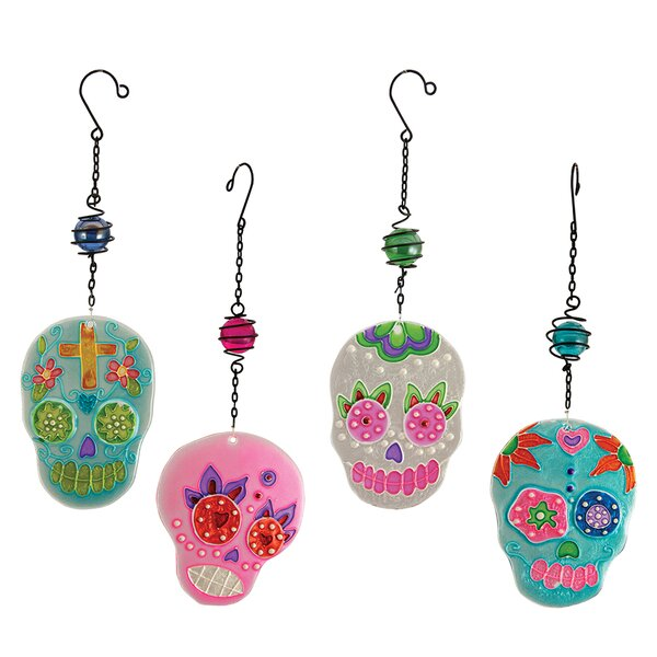 Diesel Hanging Skulls 4 Piece Suncatchers Set by The Holiday Aisle