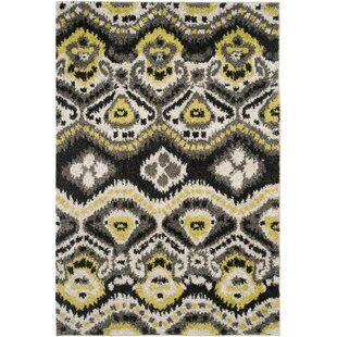 Tibetan Shag Power loomed Black/Green Area Rug Safavieh
