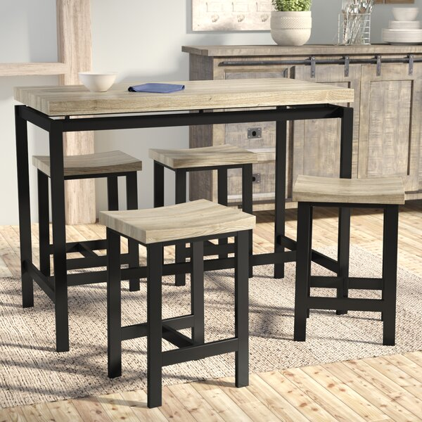 Bourges 5 Piece Pub Table Set by Laurel Foundry Modern Farmhouse