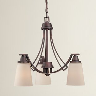 Bargain Simpson 3-Light Shaded Glass/Crystal Chandelier By Latitude Run
