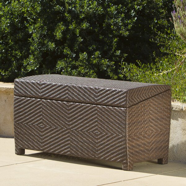 Hetzel Wicker Storage Bench by Bayou Breeze