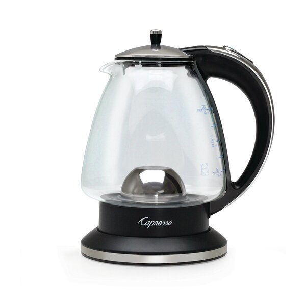 1.5 Qt. H20 Glass and Stainless Steel Electric Tea Kettle by Capresso