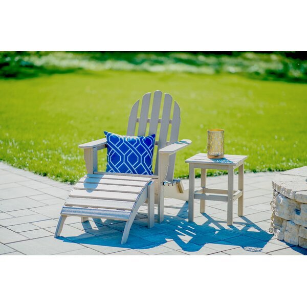Beartree Plastic Folding Adirondack Chair with Table and Ottoman by August Grove