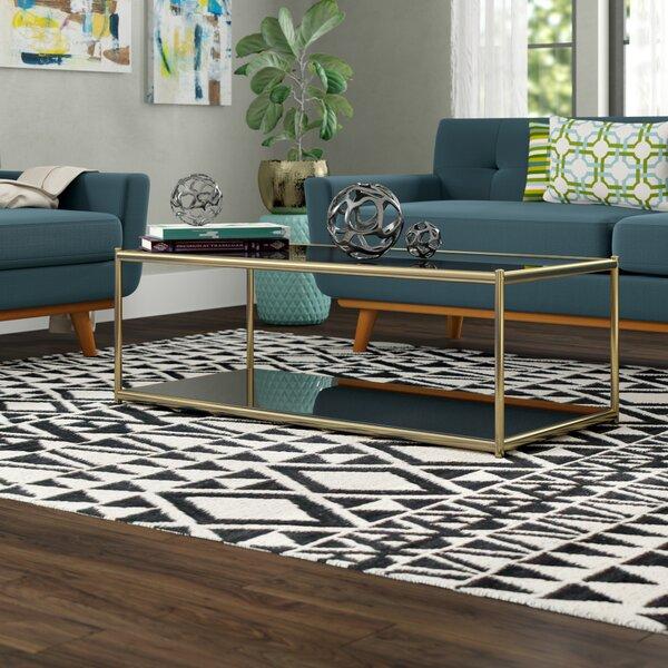 Zola Floor Shelf Coffee Table With Storage By Wade Logan