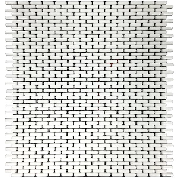 Mini 12 x 12 Glass Mosaic Tile in White by Epoch Architectural Surfaces