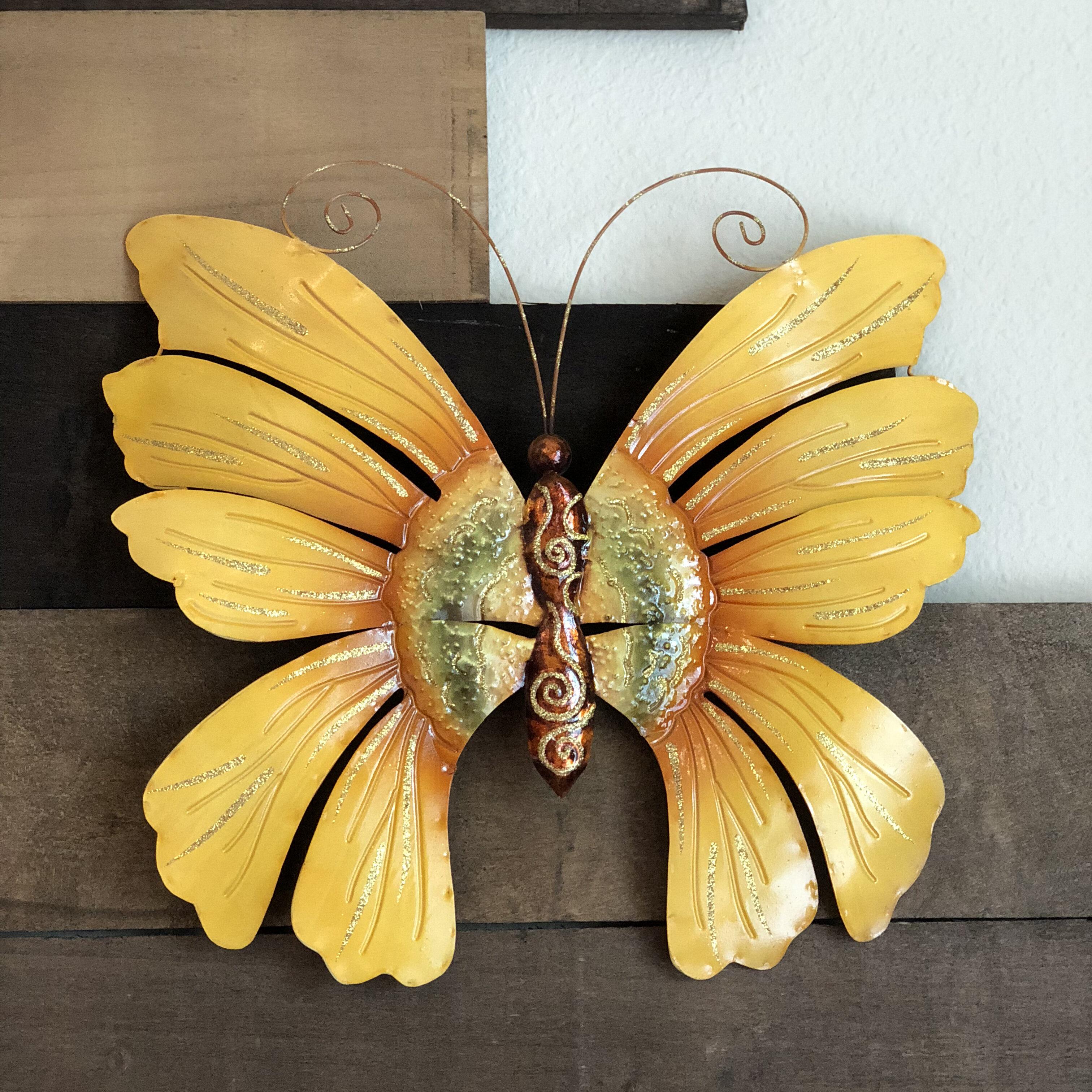 Eangee Home Design Sunflower Butterfly Wall Décor & Reviews | Wayfair