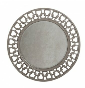 Tillis Carved Chain Circle Accent Wall Mirror by Brayden Studio