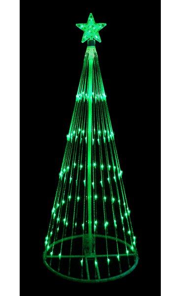 Decorative LED Light Show Cone Christmas Tree Lighted Yard Art by LB International