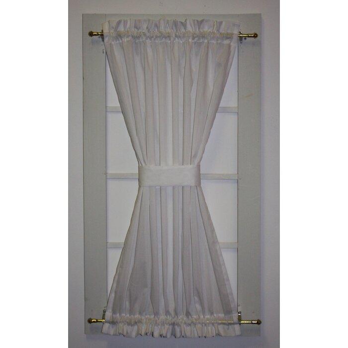 Howerton Solid Semi Sheer Rod Pocket French Door Curtain